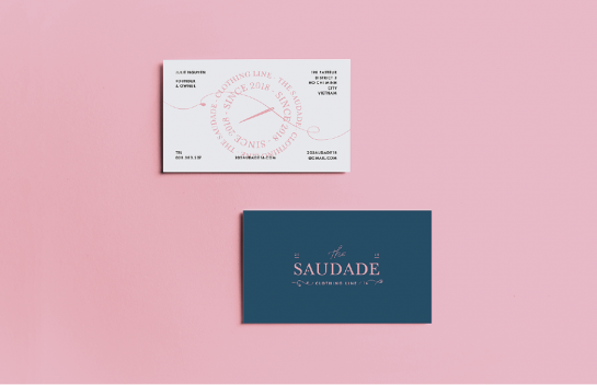Saudade business card