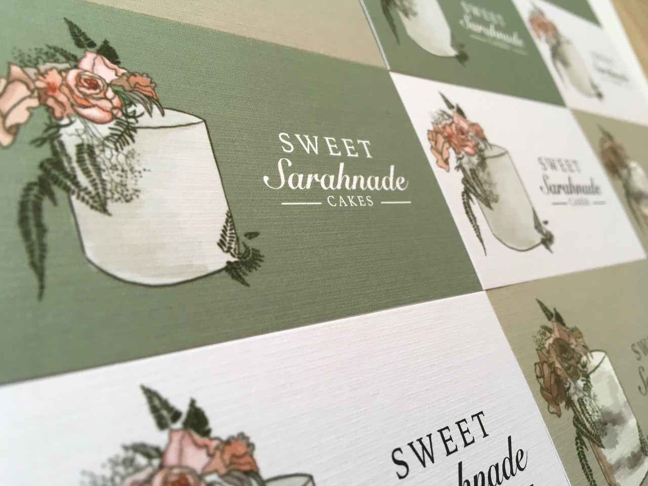 Sweet Sarahnade Cakes business cards