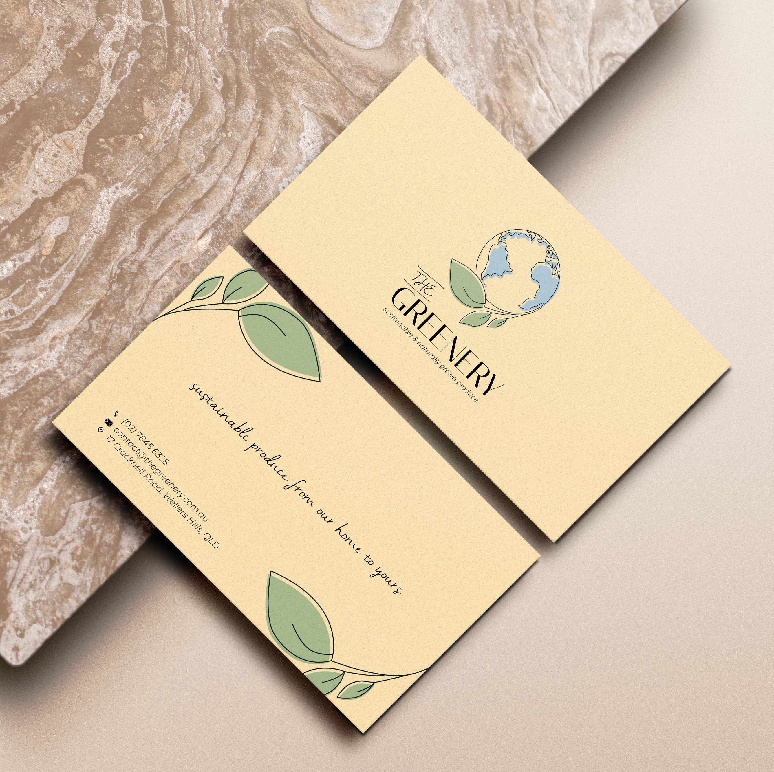 The Greenery business card