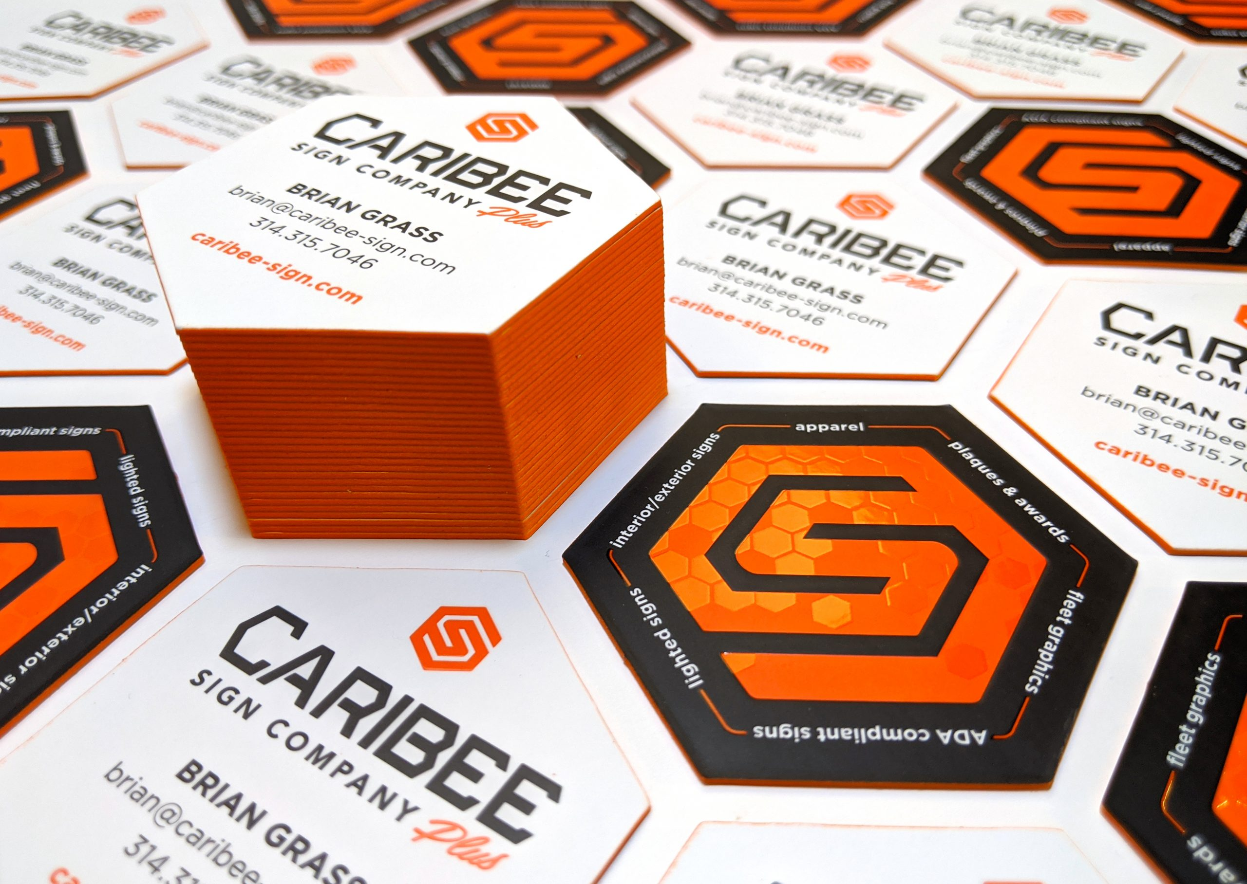 Caribee business cards