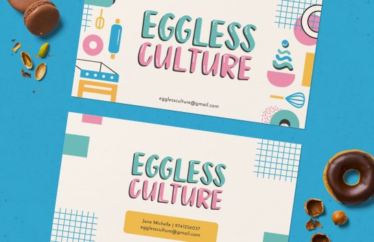 Eggless Culture business card