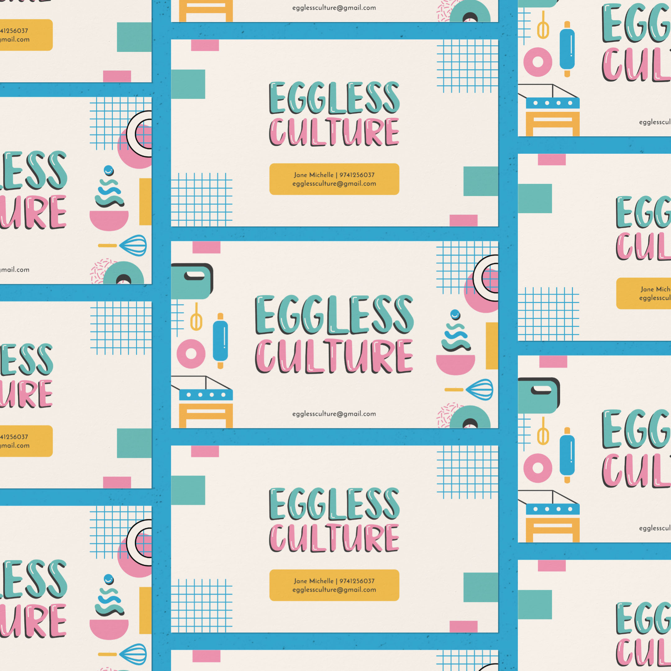 Eggless Culture business cards