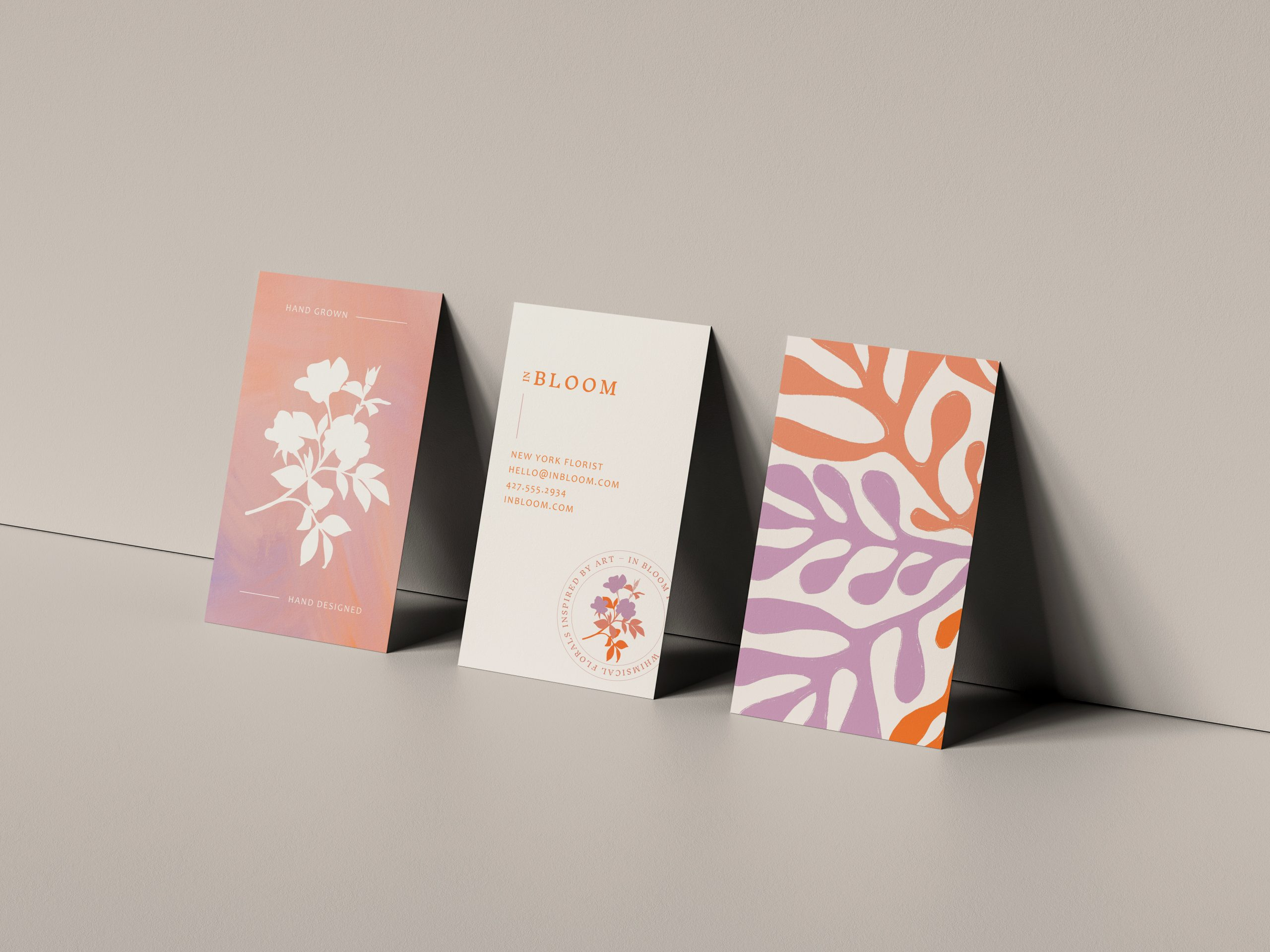 In Bloom business cards