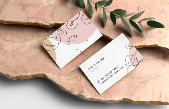 Lupine business card