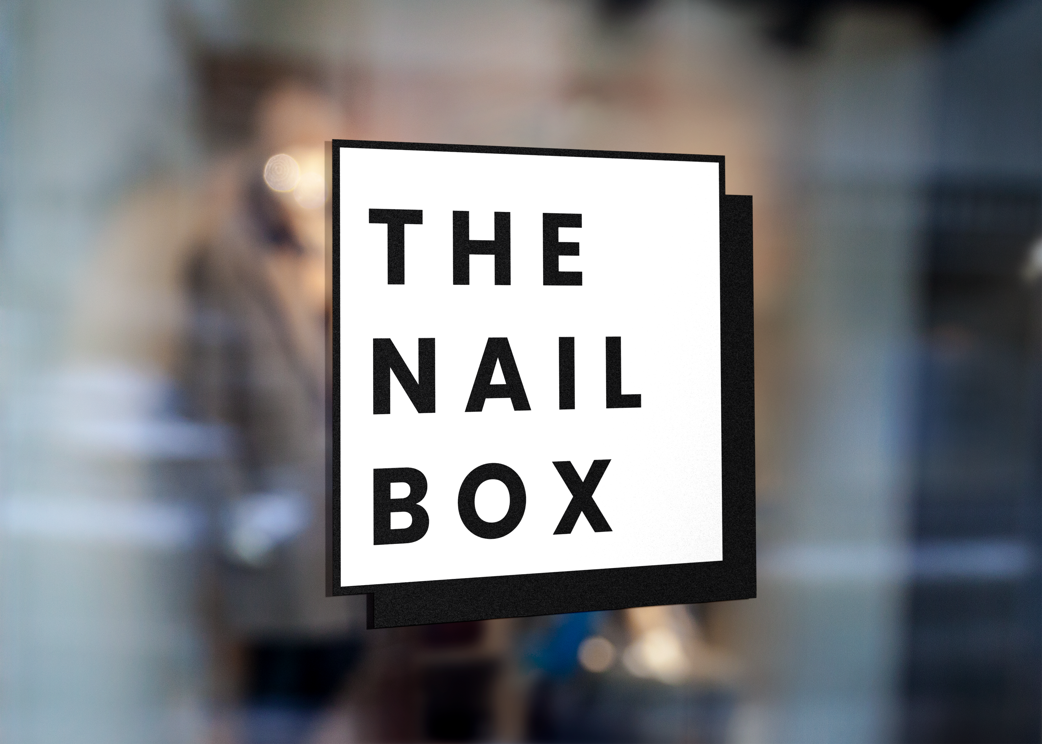 The Nail Box Window Signage