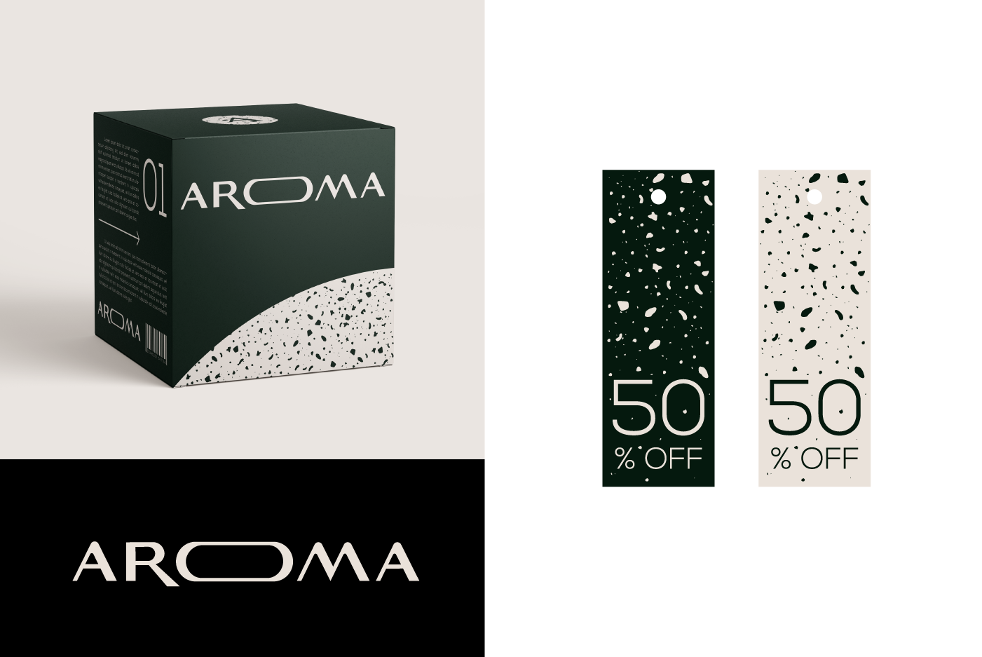 AROMA packaging and tags