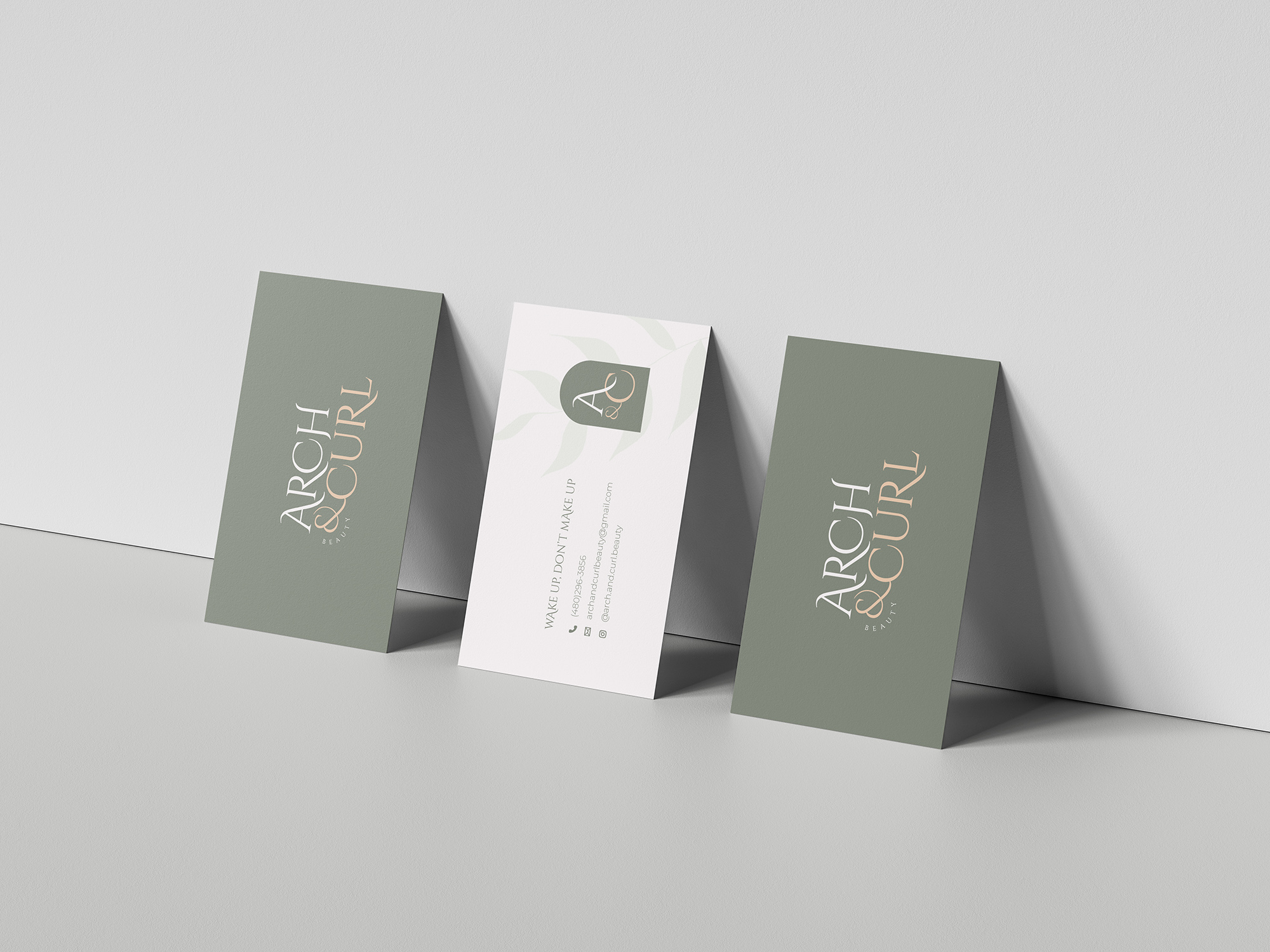 Arch and Curl business cards