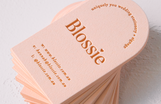 Blossie business card