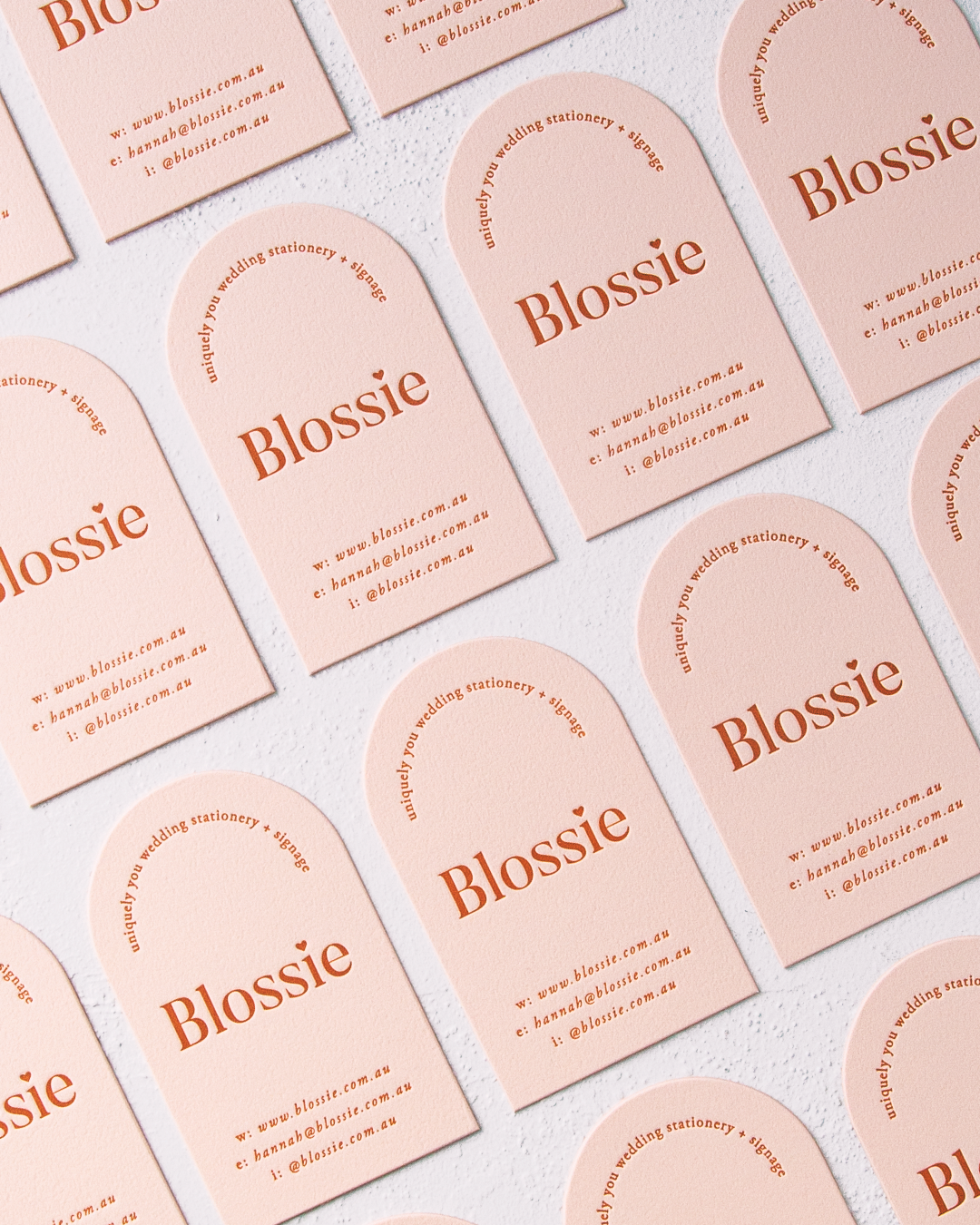 Blossie business cards