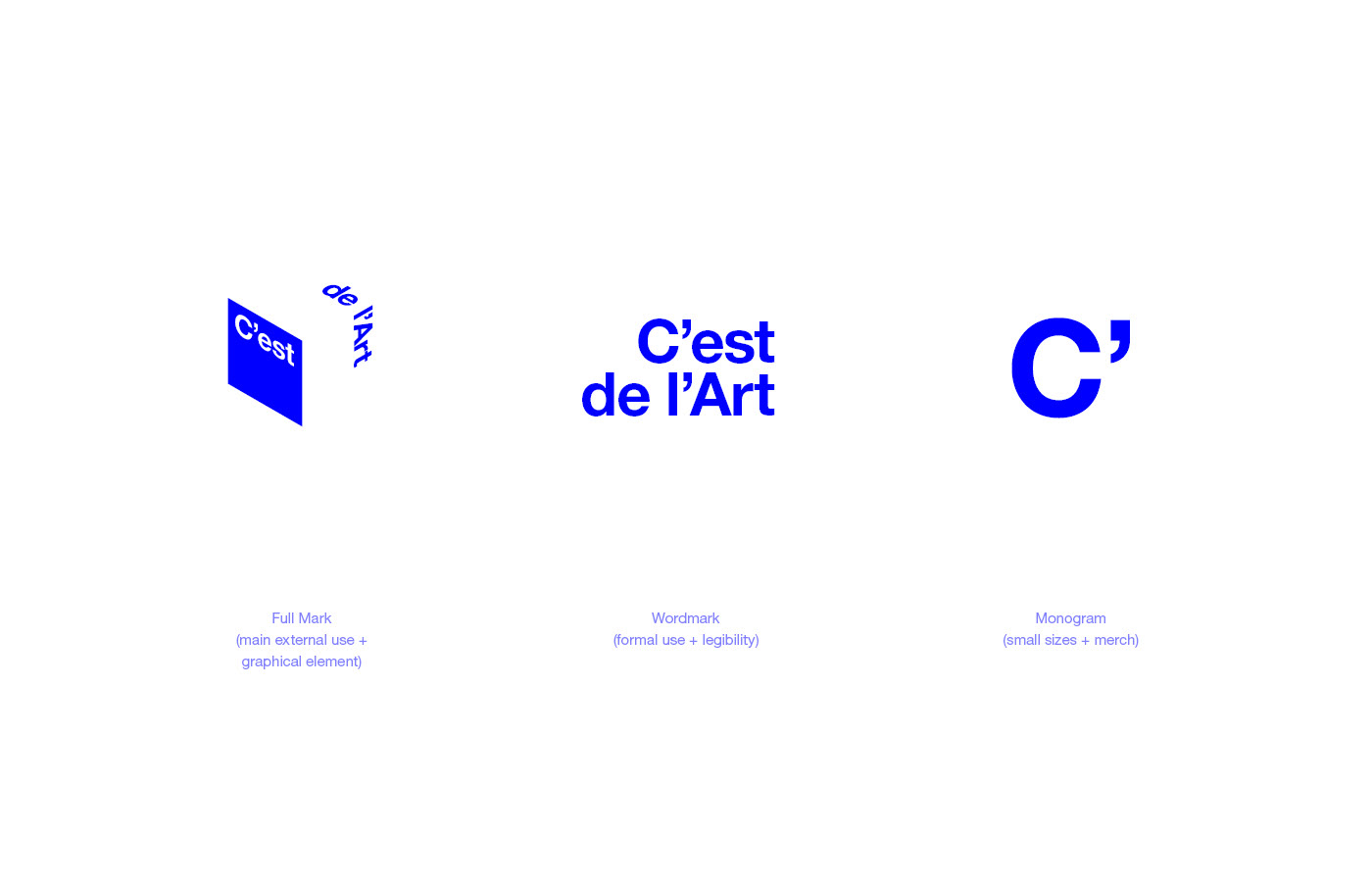 C'est de l'Art logo and wordmark