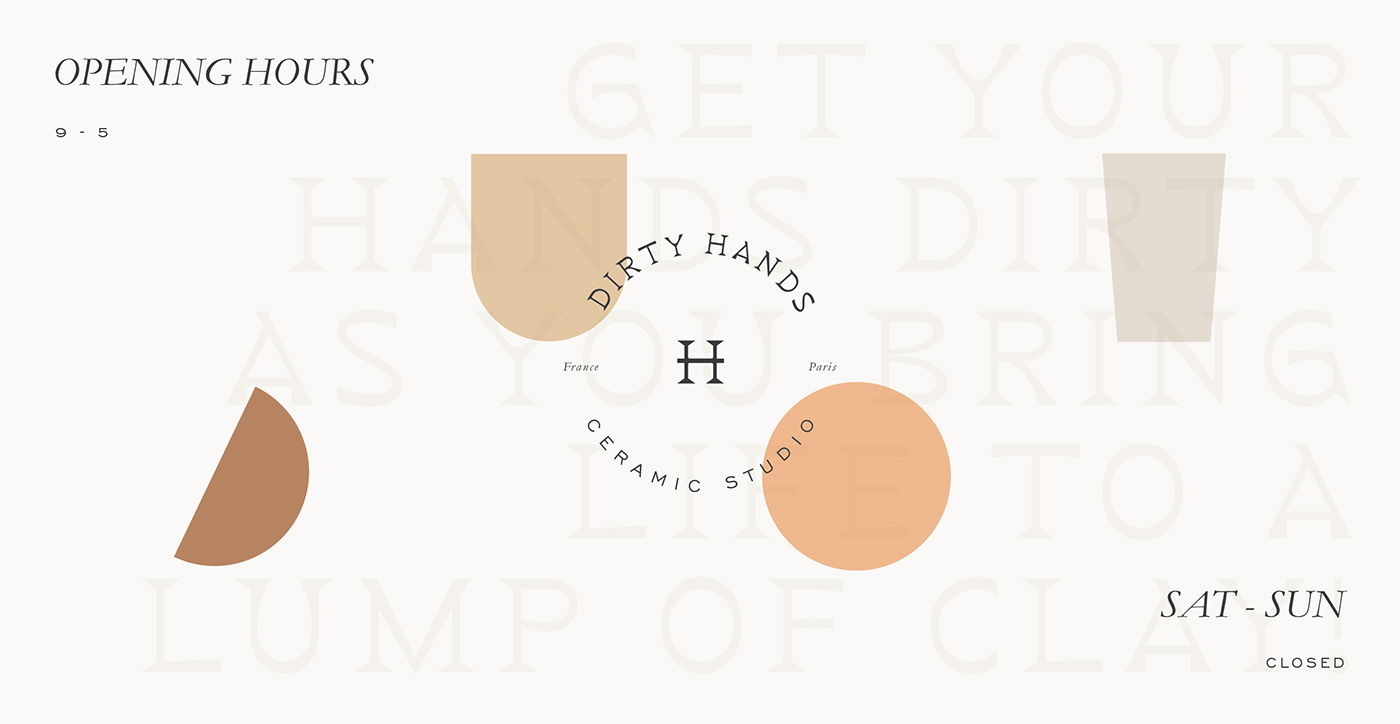 Dirty Hands logo and shapes