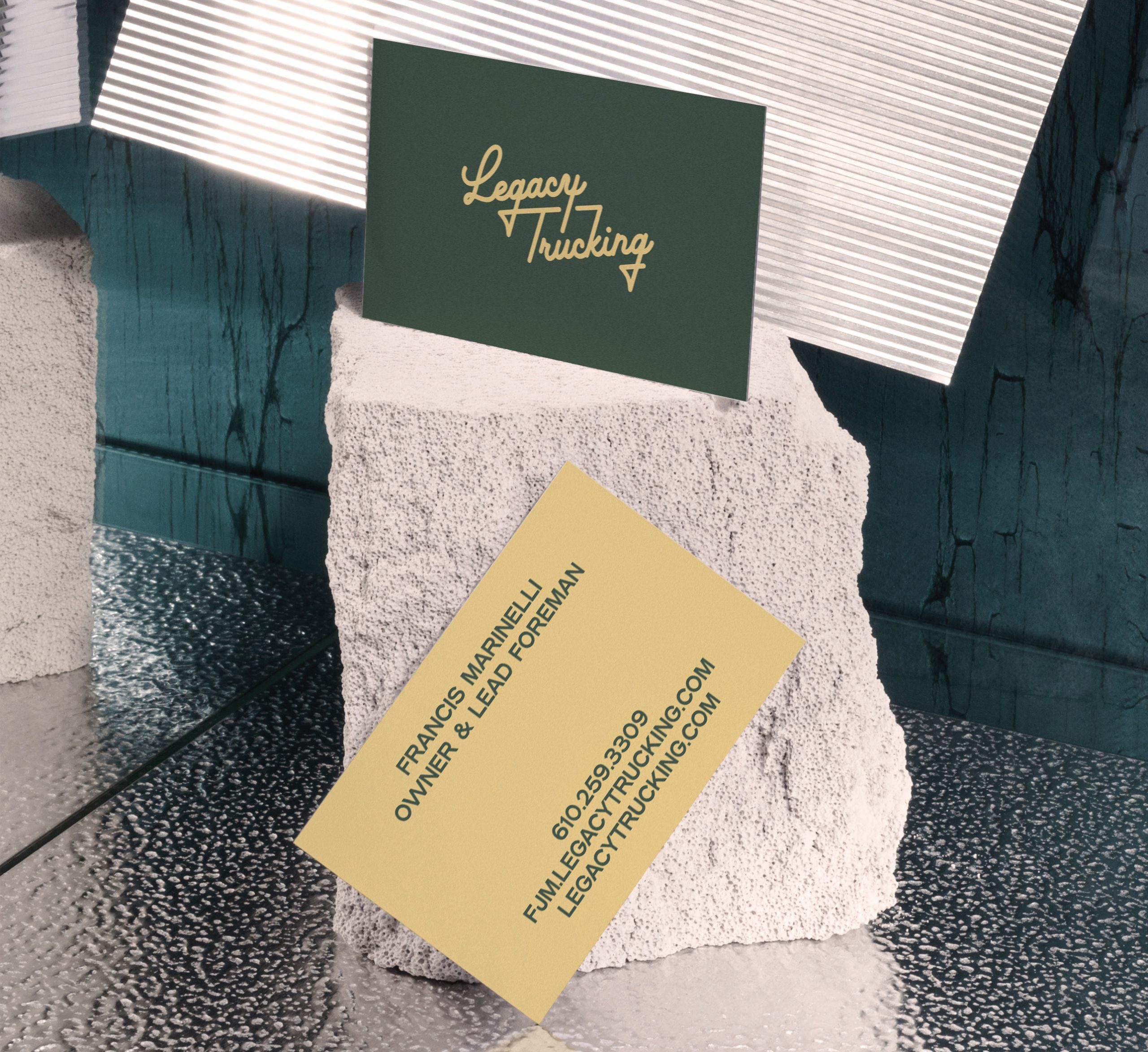 Legacy Trucking business cards_