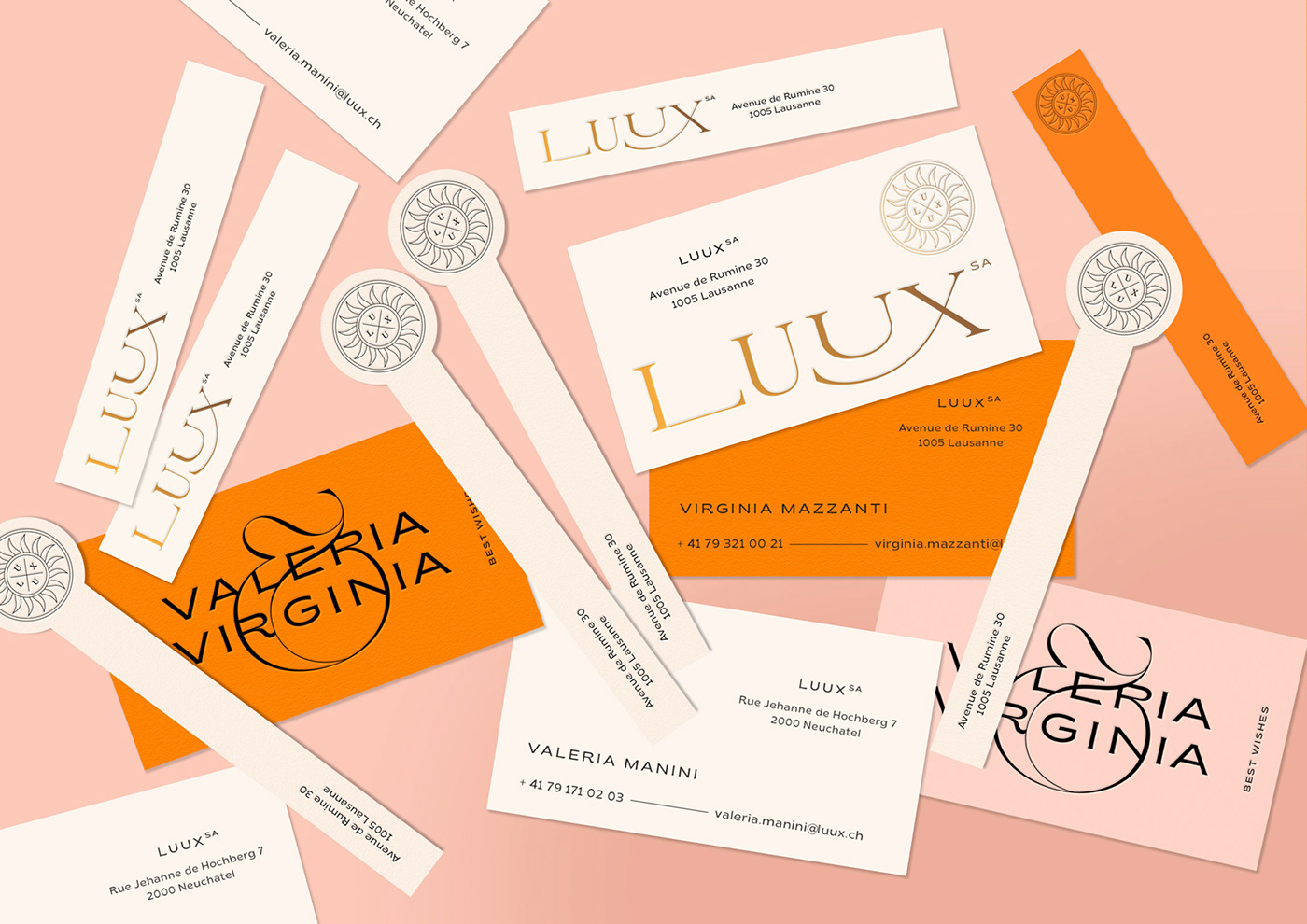 Luux business cards