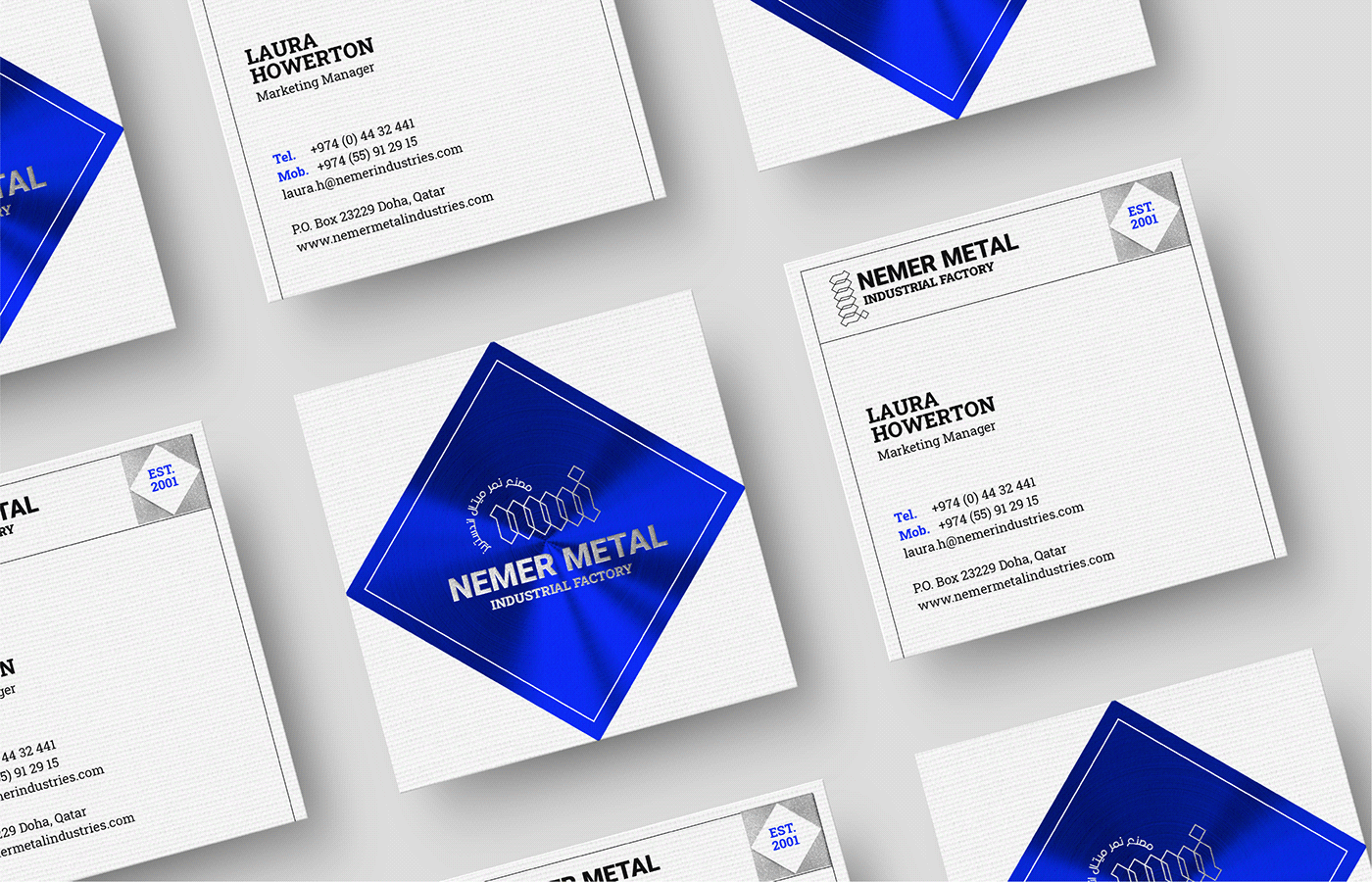 Nemer Metal Industries business card