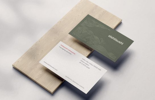 Oishii Sushi business card