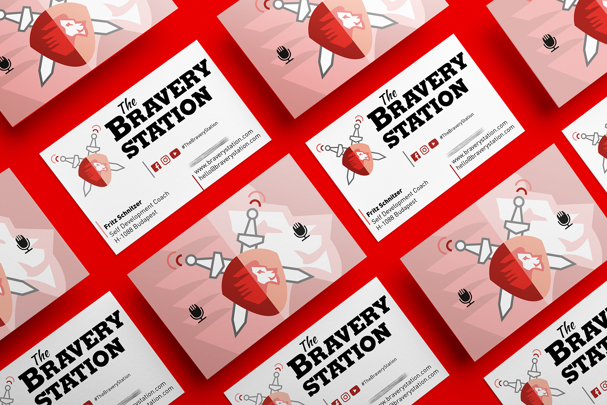 The Bravery Station business cards