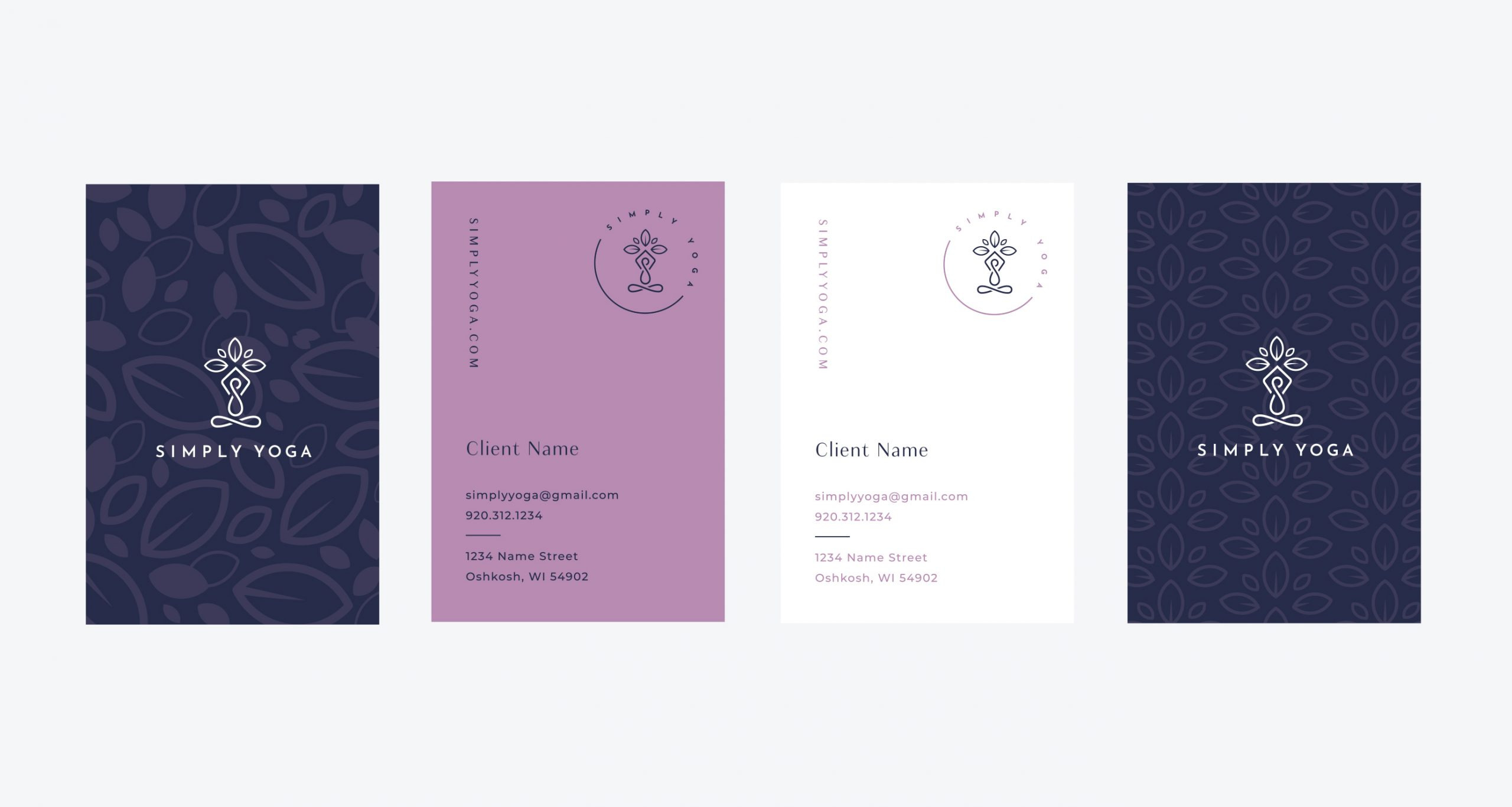 Simply Yoga businesscard