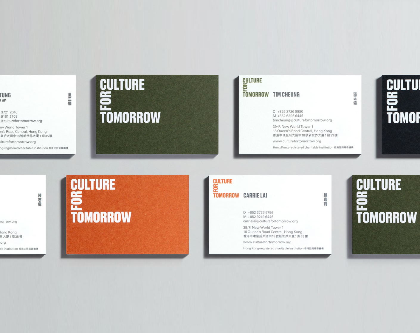 Culture For Tomorrow business card