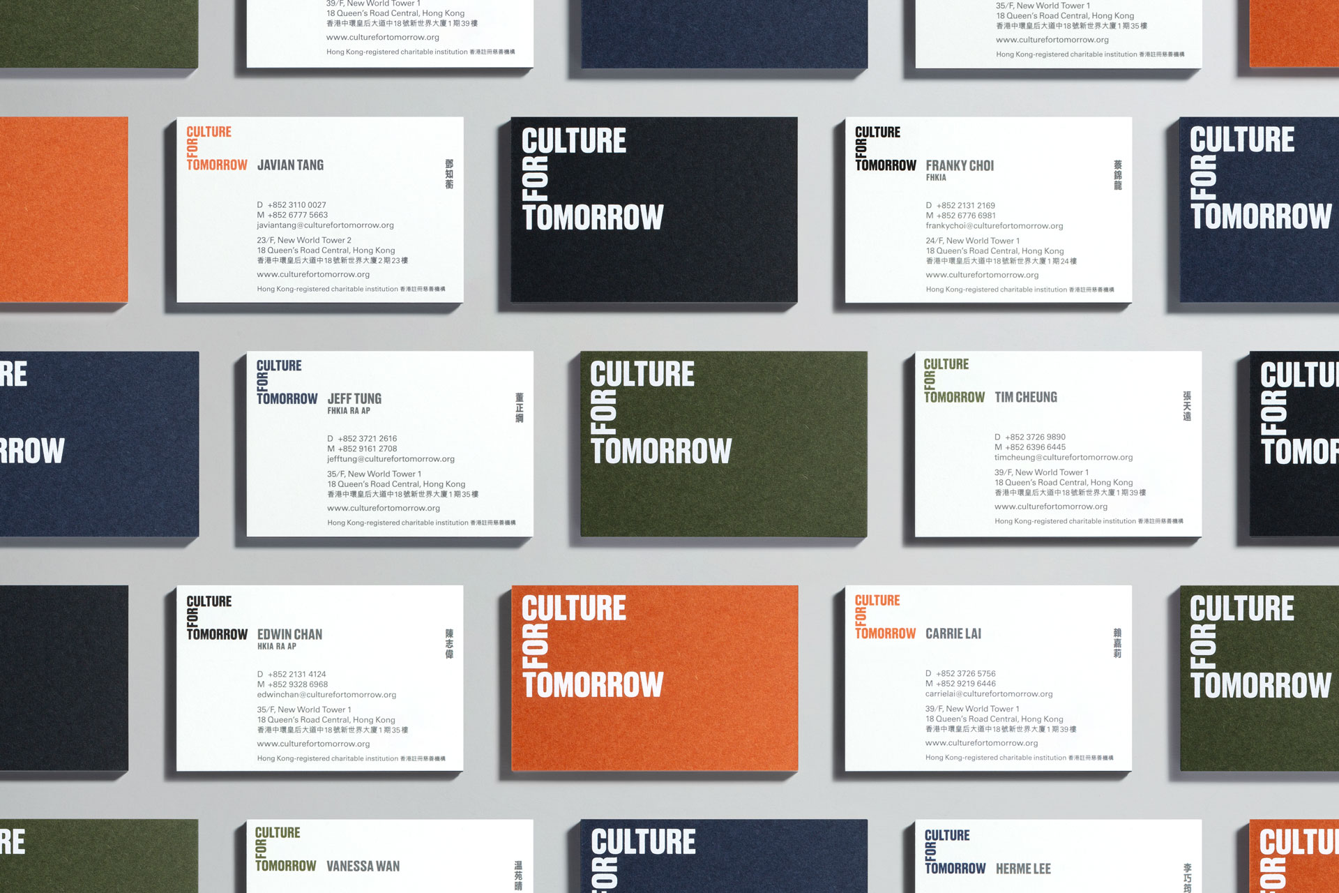 Culture For Tomorrow business cards