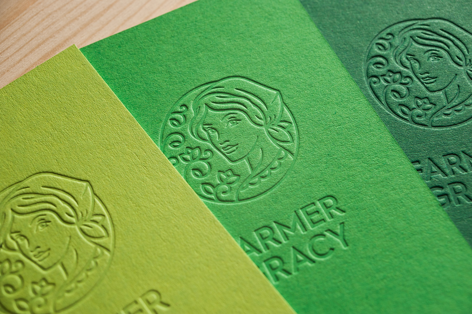 Farmer Gracy embossed cards