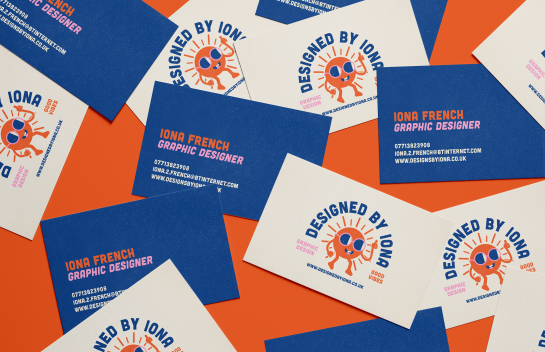 Iona French business cards