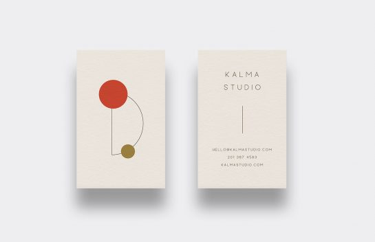 Kalma Studio business card