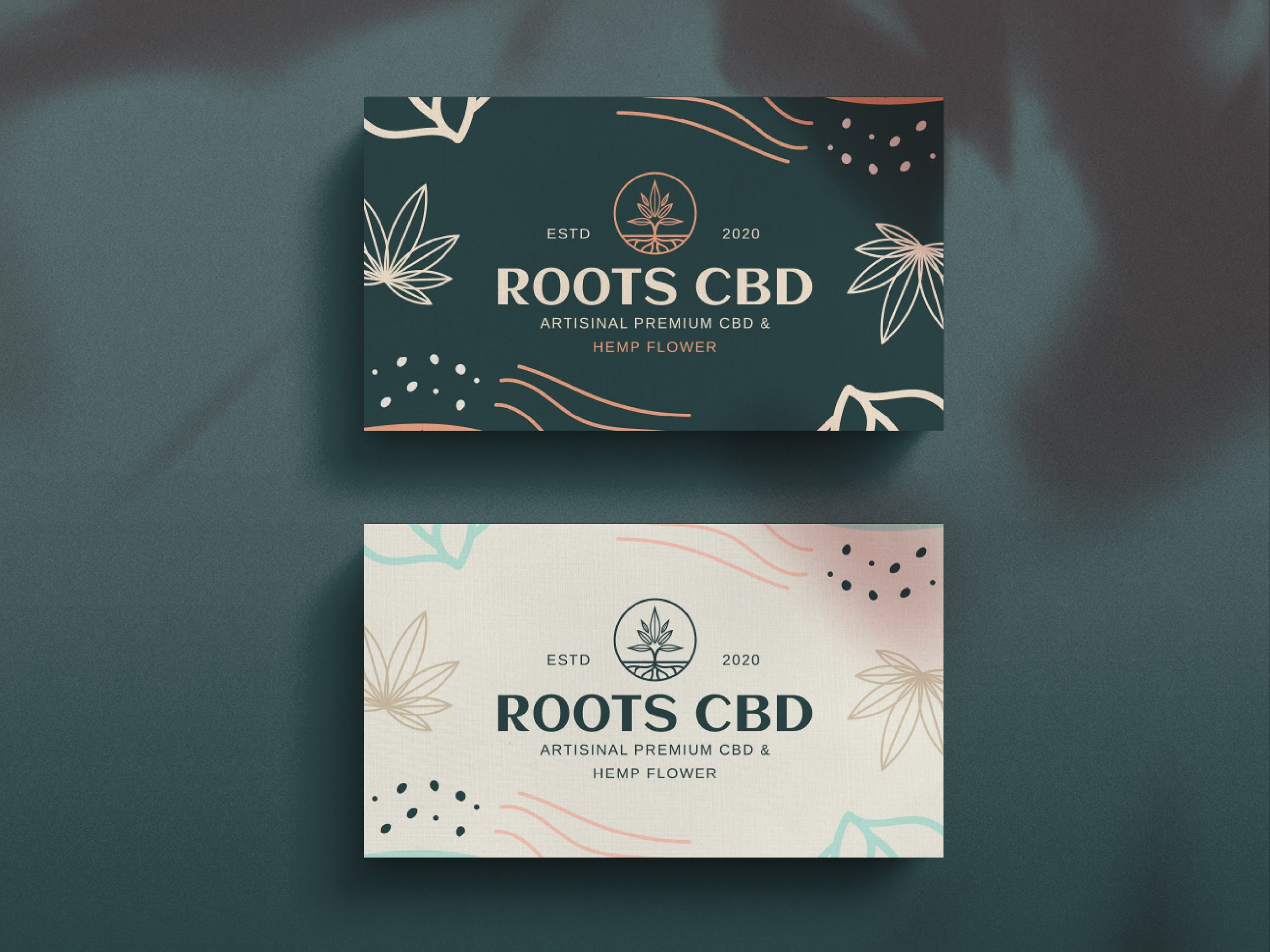 Roots CBD business cards