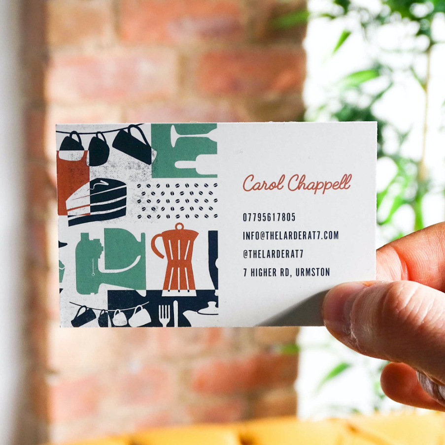 The Larder at 7 Business Cards