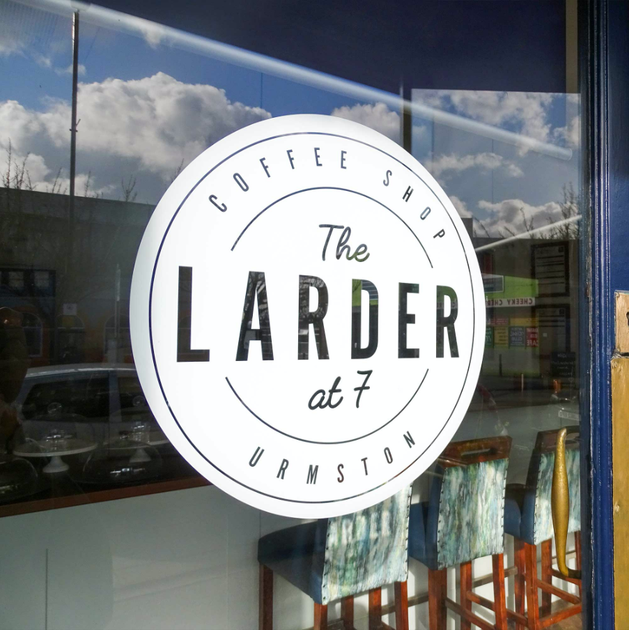 The Larder at 7 Door sign