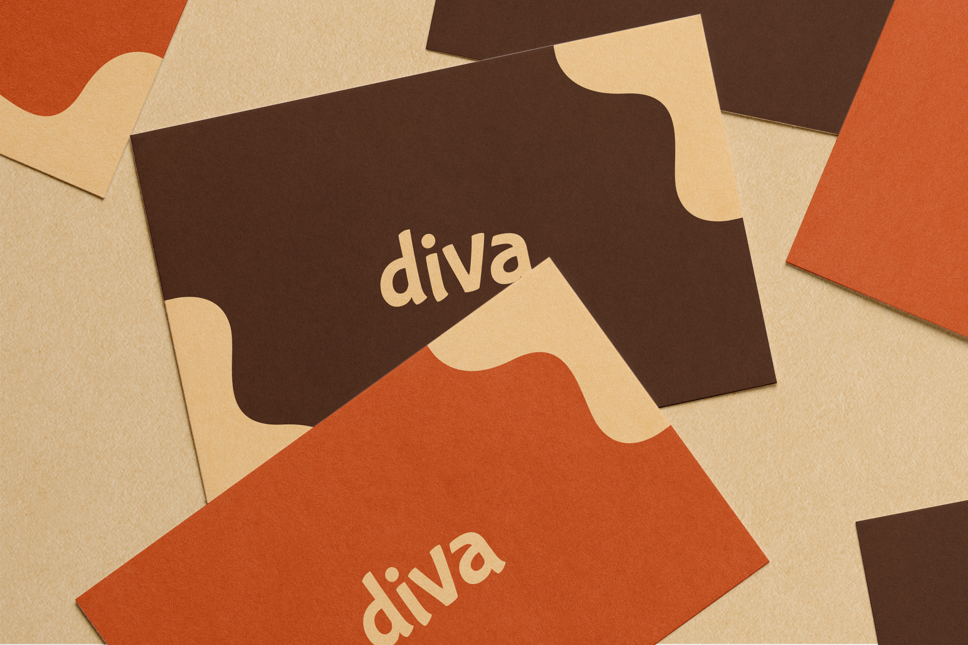 Diva Confectionery business cards
