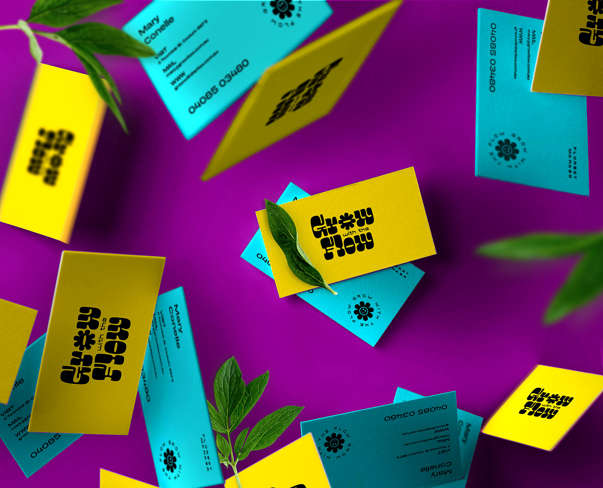 Grow with the Flow business cards