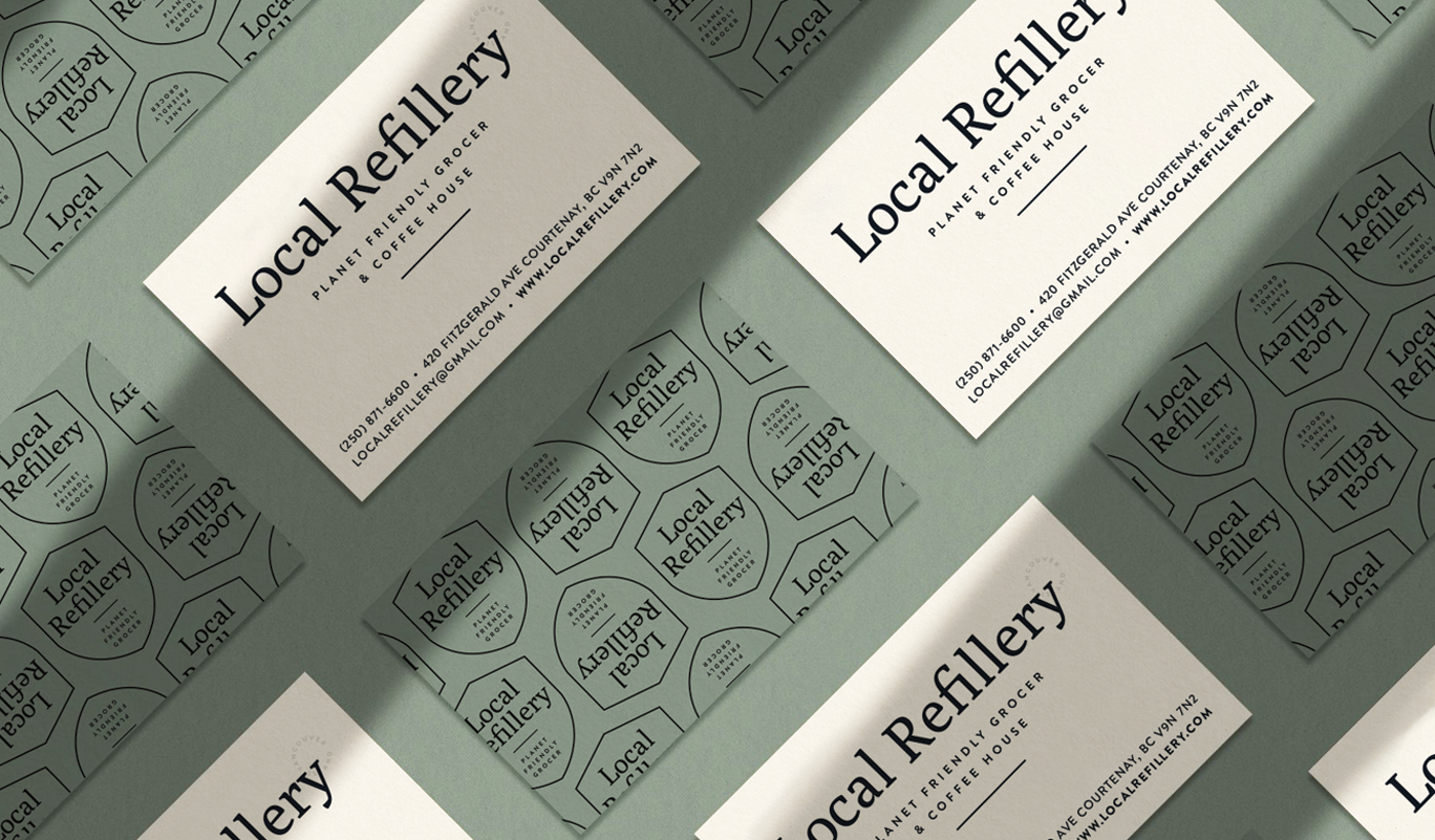 Local Refillery business cards