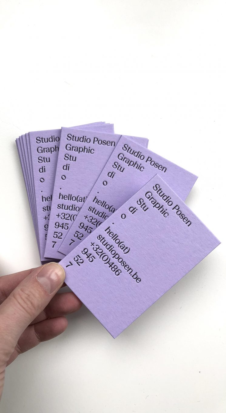 Studio Posen business card