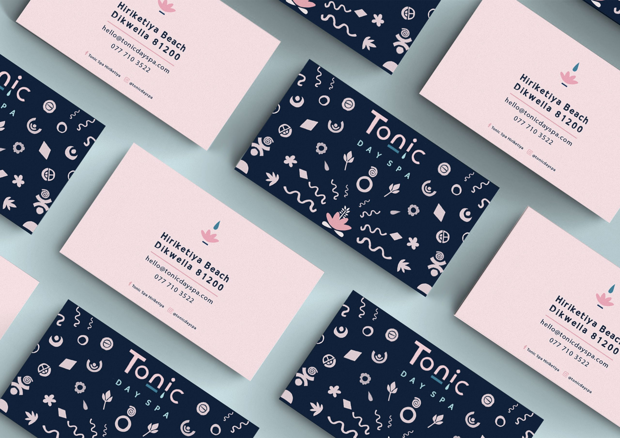 Tonic Day Spa business cards