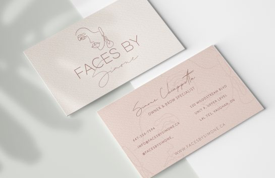 Faces By Simone Business Cards_