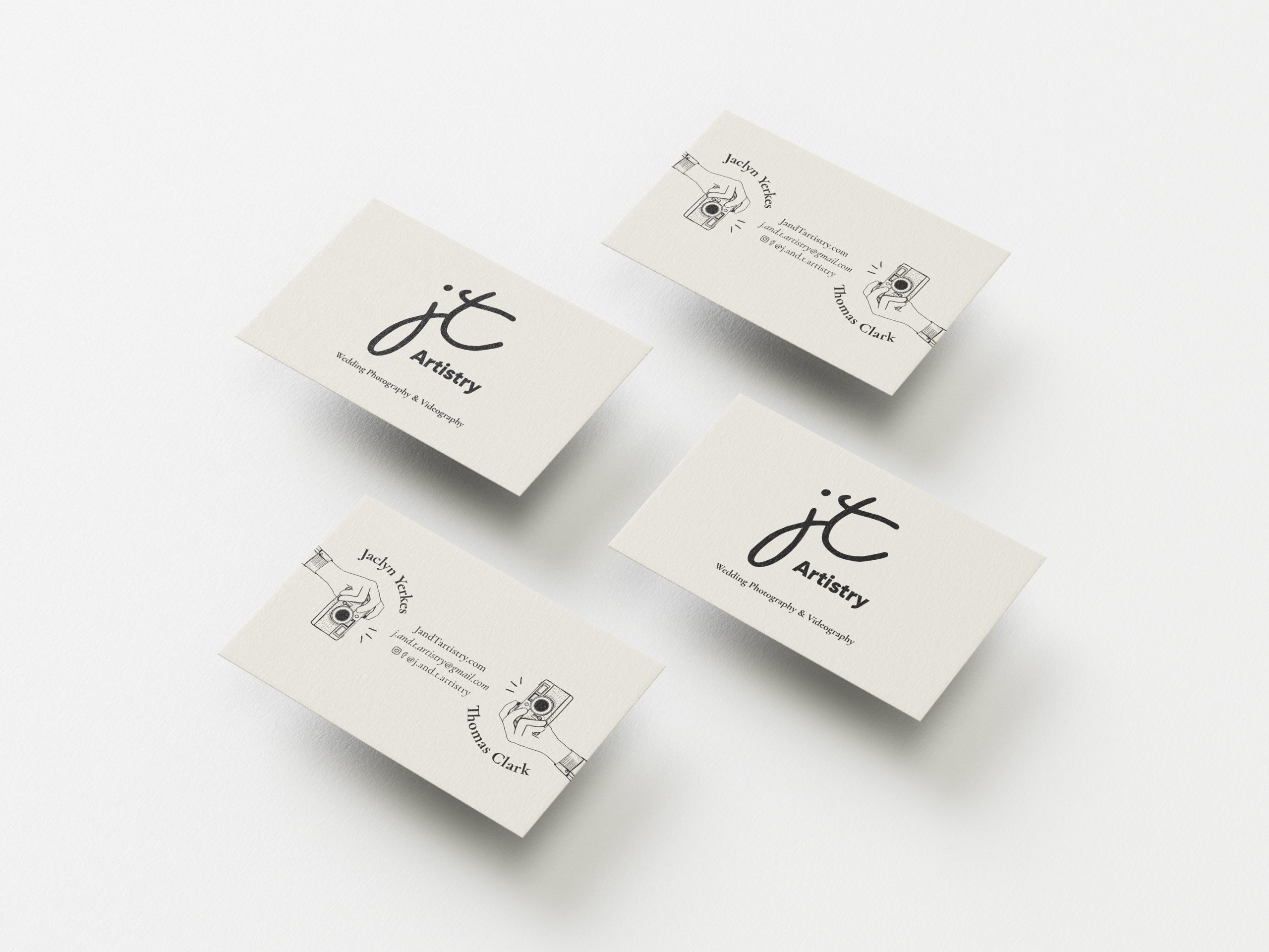 J and T Artistry business cards