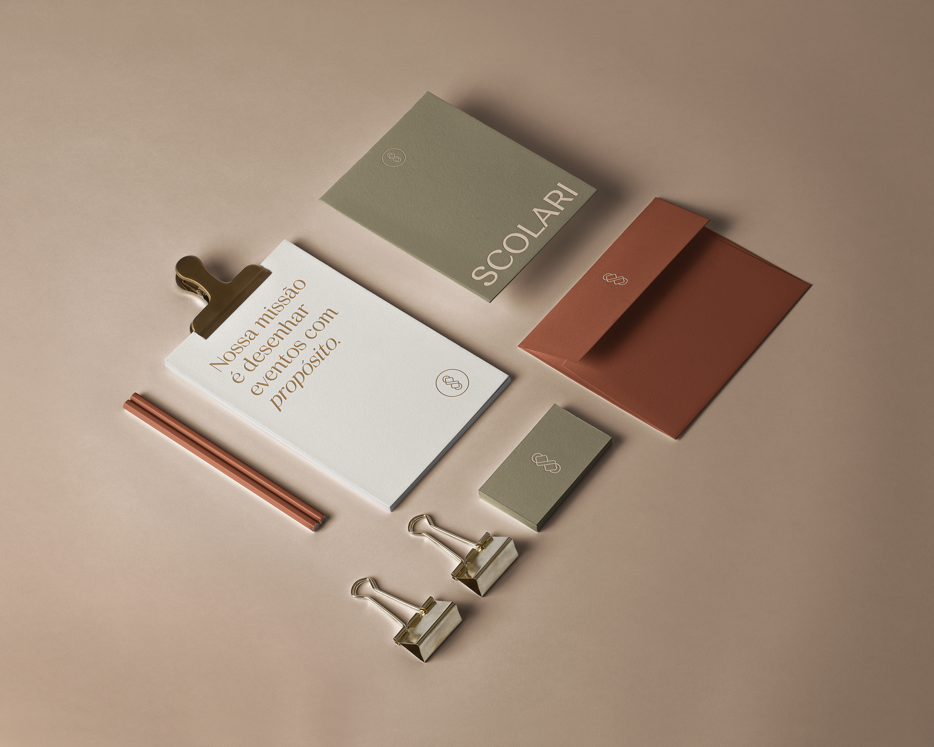 Melissa Scolari stationery design