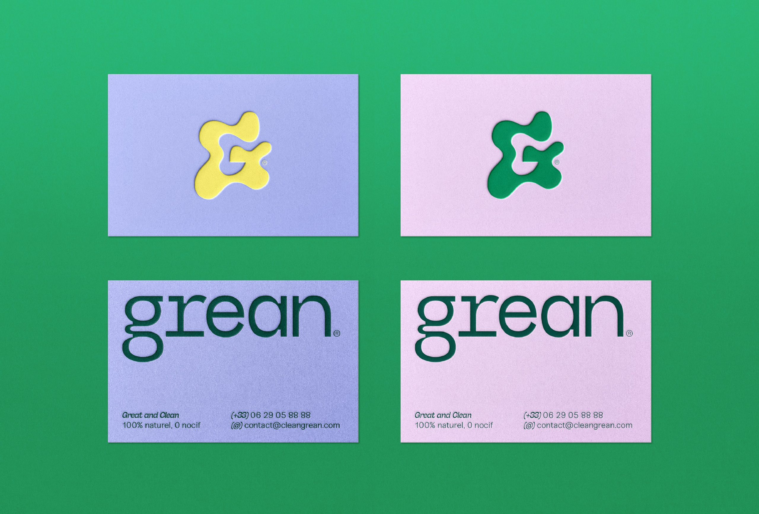 Grean business cards