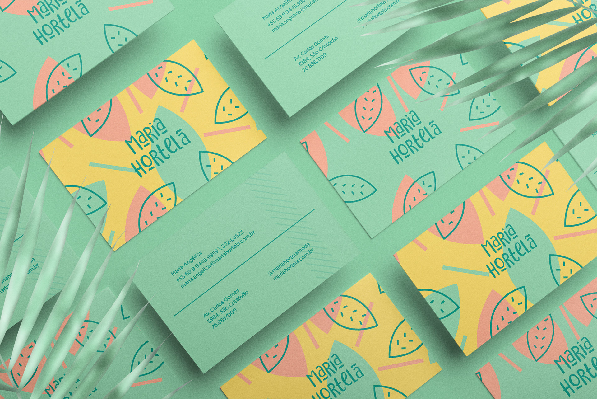 Maria Hortelã business cards