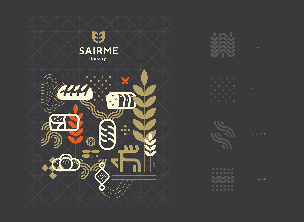 Sairme Bakery illustrations and icons