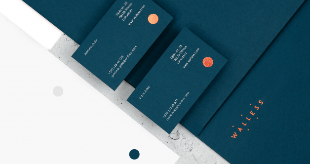 Walless business cards