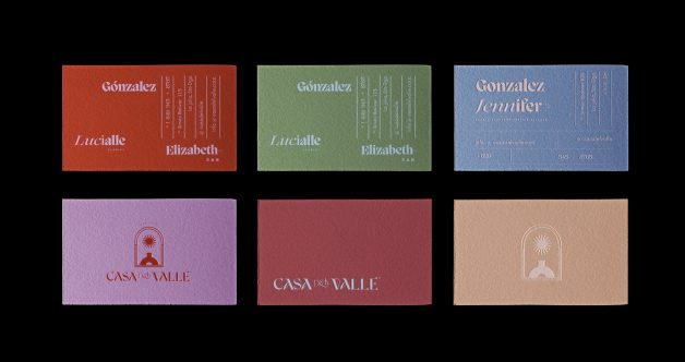 Casa del Valle business cards