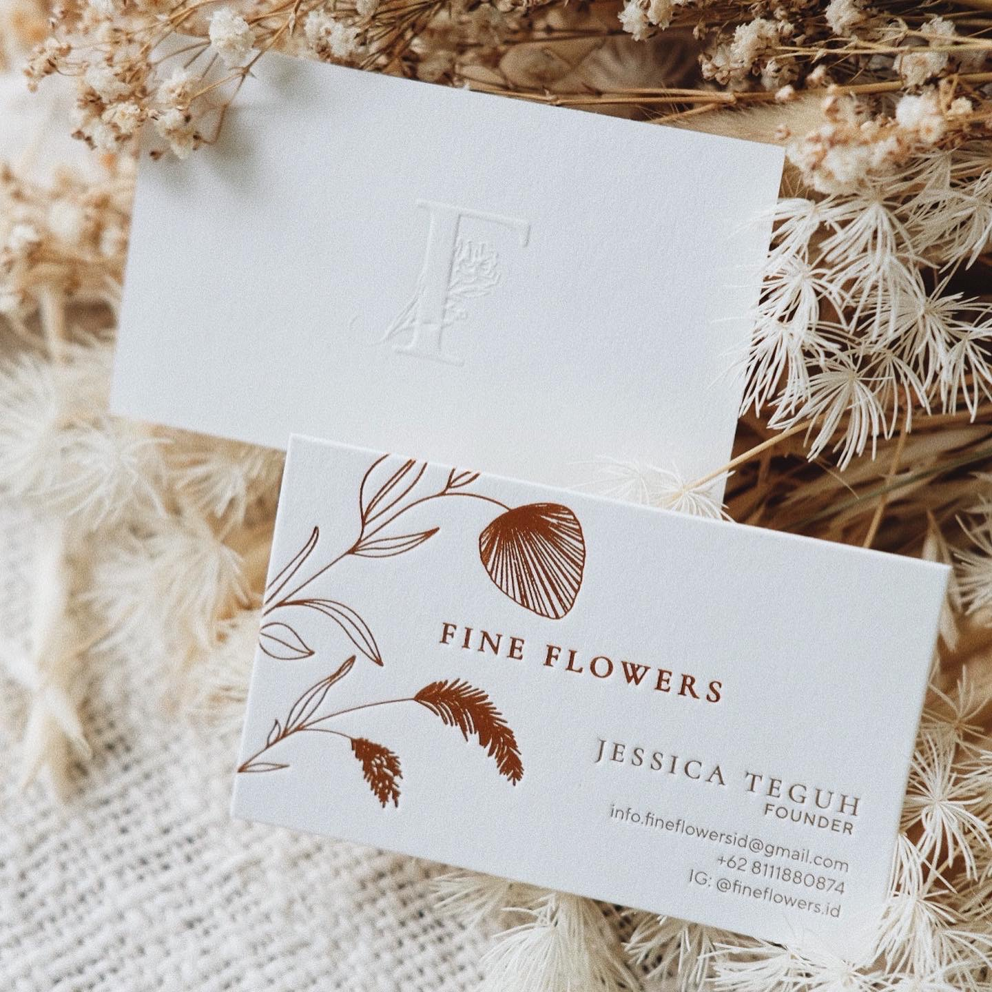 Fine Flowers Business Card