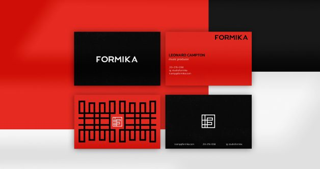 Formika business cards