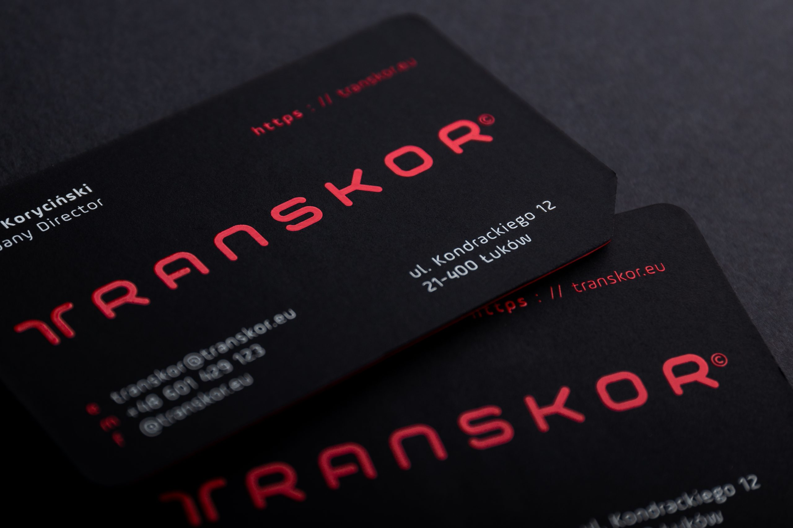 Transkor business card