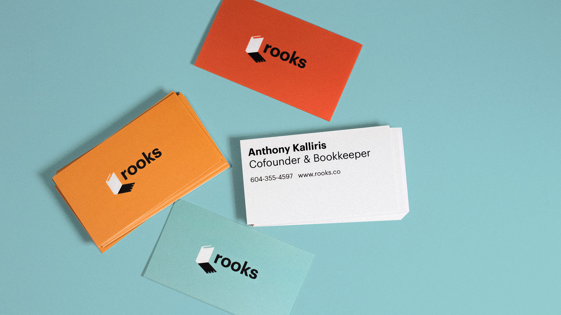 Rooks Bookkeeping business cards