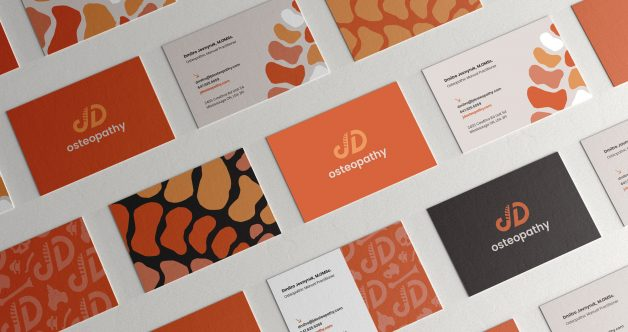 JD Osteopathy business cards