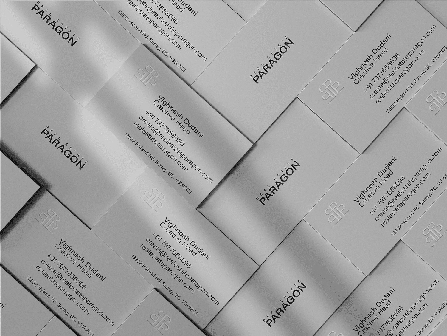 Real Estate Paragon business cards