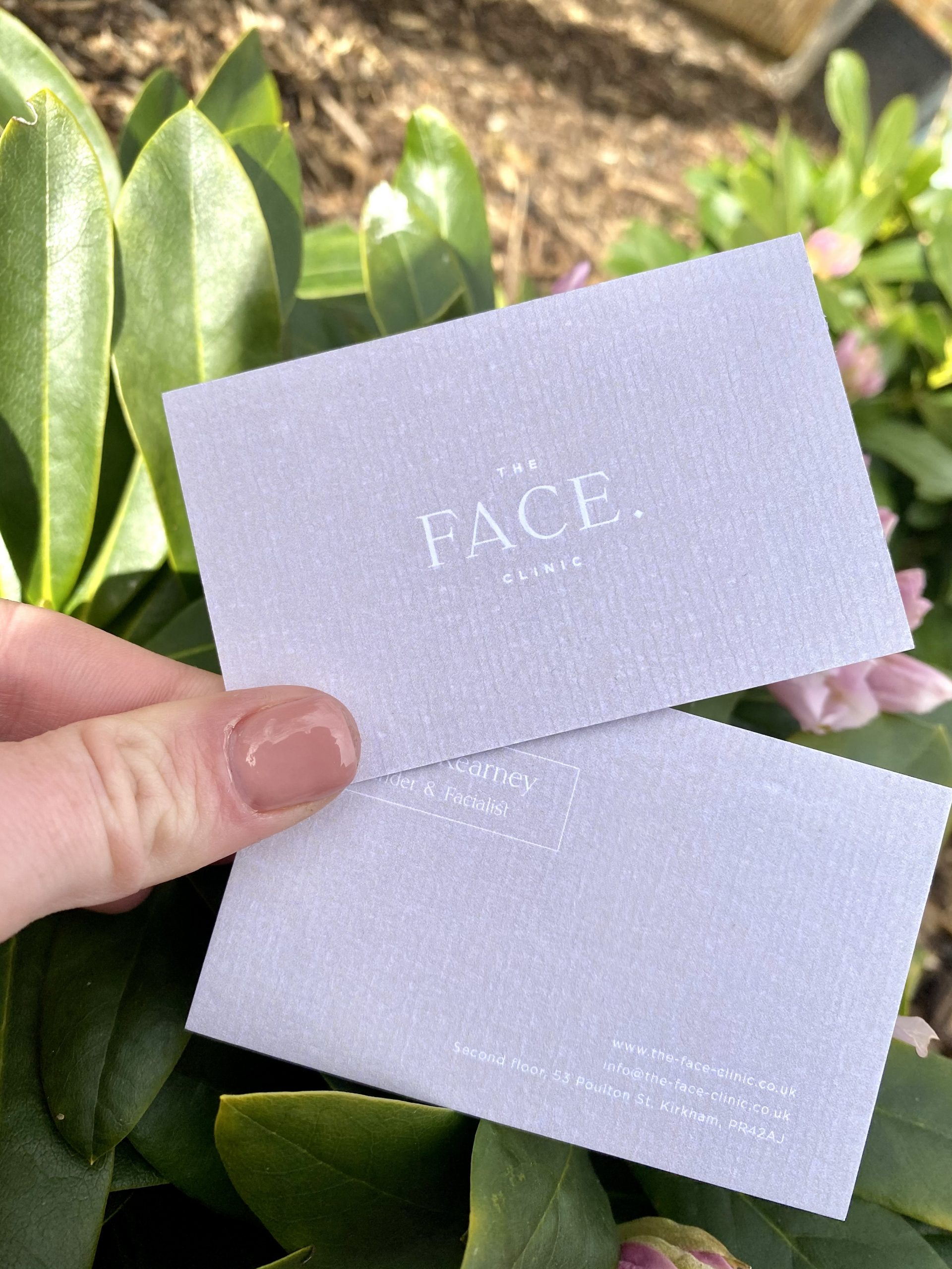 The Face Clinic business card