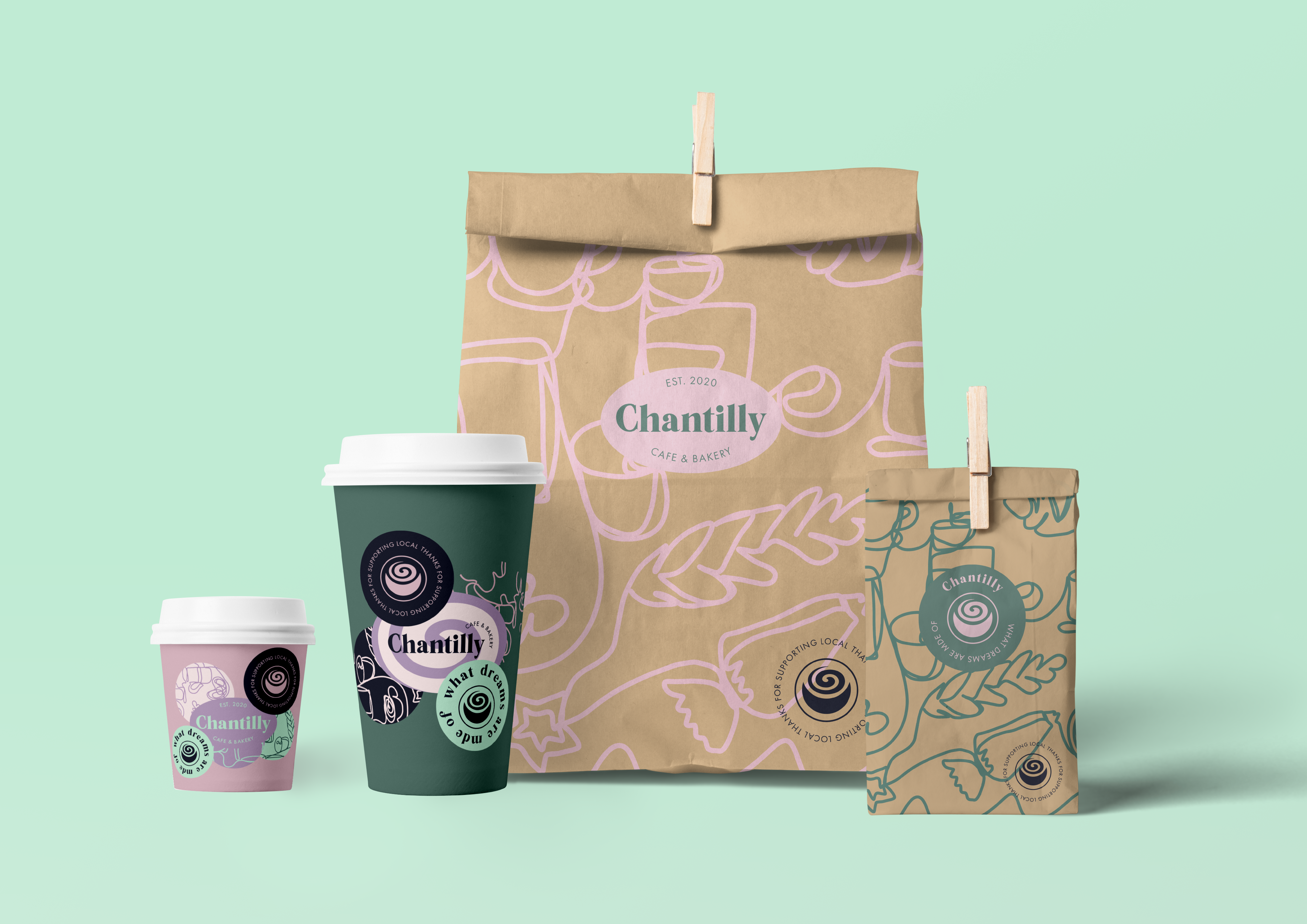 Chantilly packaging designs